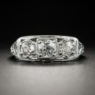 Art Deco Three-Stone Diamond Ring - 1