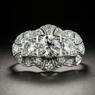 Art Deco Three-Stone Diamond Ring
