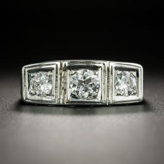 Art Deco Three-Stone Diamond Ring - 2