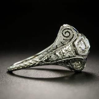Art Deco Three-Stone Diamond Ring by Belais Bros.