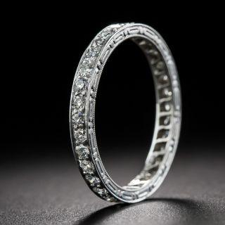 Art Deco Tiffany & Co. Diamond Eternity Wedding Band - Size 6 - 1
