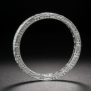 Art Deco Tiffany & Co. Diamond Eternity Wedding Band - Size 6