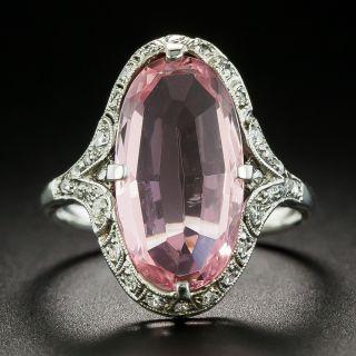 Art Deco Tourmaline and Diamond Dinner Ring - 2