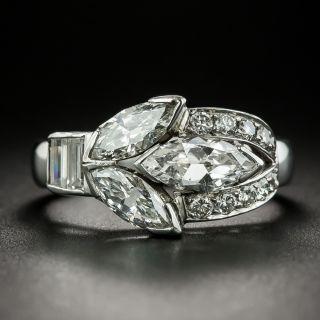 Art Deco Triple Marquise Diamond Ring - 2