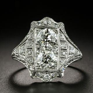 Art Deco Twin Diamond 'Toi et Moi' Ring - 1