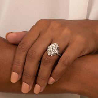Art Deco Twin Diamond 'Toi et Moi' Ring