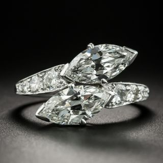 Art Deco Twin MarquiseDiamond Engagement Ring  by Shreve