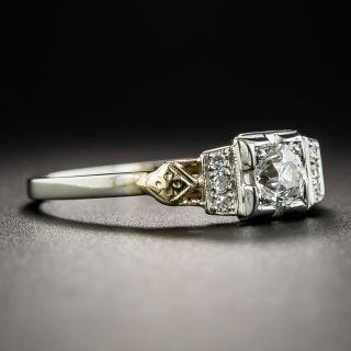 Art Deco Two-Tone .40 Carat Diamond Engagement Ring