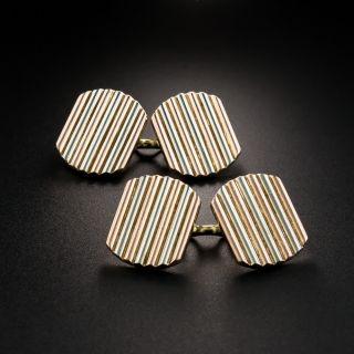 Art Deco Two-Tone Cufflinks - 2