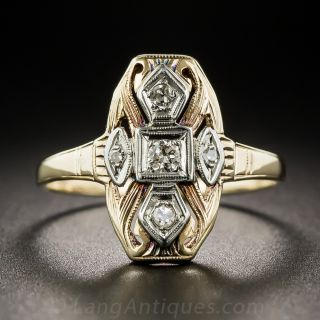 Art Deco Two-Tone Diamond Ring