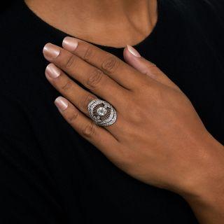 Art Deco 1.45 Carat Center Diamond Dinner Ring