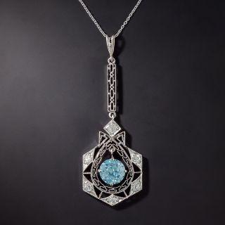 Art Deco Zircon and Diamond Lavalier - 0