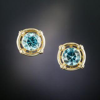 Art Deco Zircon Earrings - 2