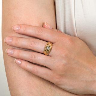 Art Nouveau .25 Carat Diamond Ring