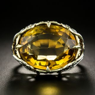 Art Nouveau Citrine Ring by Allsopp Brothers - 2