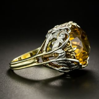 Art Nouveau Citrine Ring by Allsopp Brothers