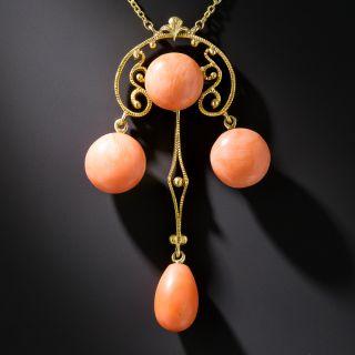 Art Nouveau Coral Pendant