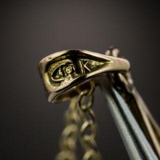 Art Nouveau Diamond, Enamel and Pearl Drop Necklace