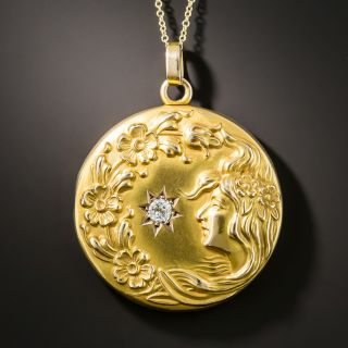 Art Nouveau Diamond Locket - 2