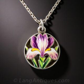 Art Nouveau Enamel Iris Scent Locket