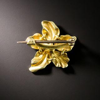 Art Nouveau Enamel Pearl Brooch by Henry Blank & Co.
