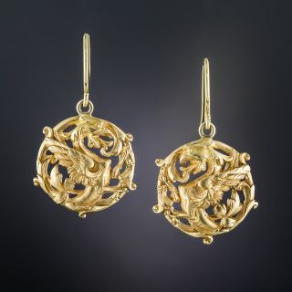Art Nouveau Griffin Earrings