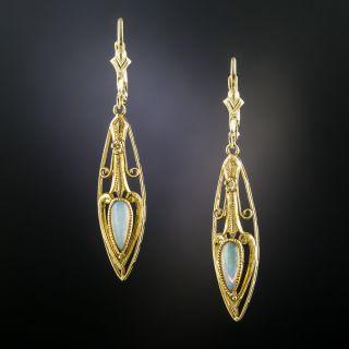 Art Nouveau Opal Earrings - 2