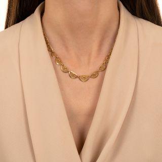 Art Nouveau Palmette Gold Necklace