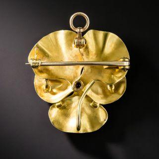 Art Nouveau Pansy Pin by Krementz