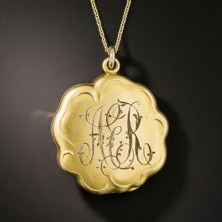 Art Nouveau Paste Locket by Carter,Qvarnstrom, & Remington