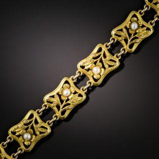 Art Nouveau Pearl Bracelet by Carter Gough & Co.