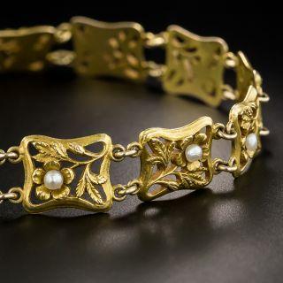 Art Nouveau Pearl Bracelet by Carter Gough & Co. - 4