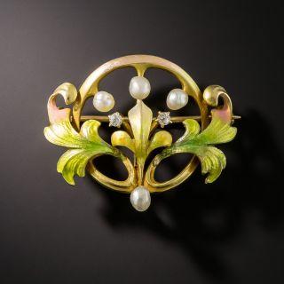 Art Nouveau Pin by Krementz - 1