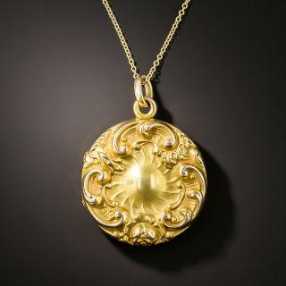 Art Nouveau Sapphire Locket