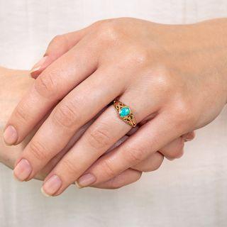 Art Nouveau Style Opal Ring