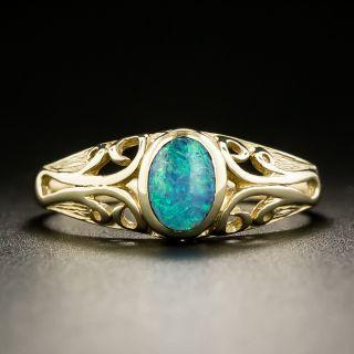 Art Nouveau Style Opal Ring - 2