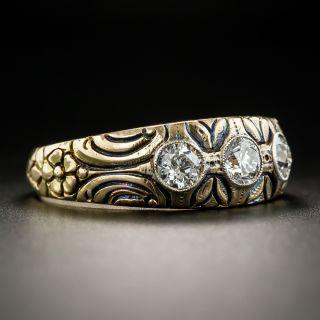 Art Nouveau Three-Diamond Ring