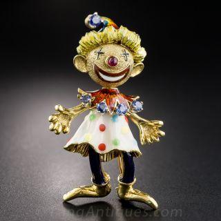 Articulated Enamel Clown - 1