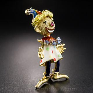 Articulated Enamel Clown
