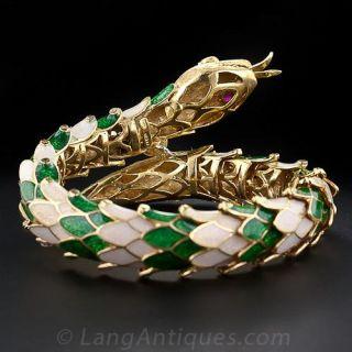 Articulated Enamel Snake Bracelet