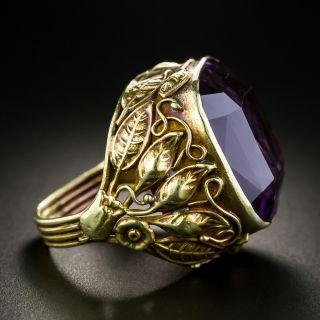 Arts & Crafts 30 Carat Amethyst Ring - 3