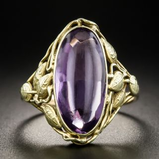 Arts & Crafts Amethyst Ring