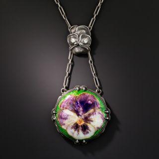 Arts & Crafts Enamel Necklace - 2