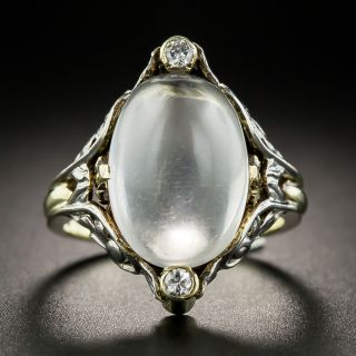 Arts & Crafts Moonstone and Diamond Ring by Allsopp Brothers - 2