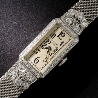 Audemars Piguet Platinum and Diamond Art Deco Watch