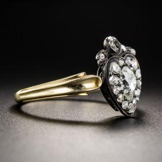 Austro-Hungarian Antique Diamond Heart Ring