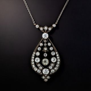 Austro-Hungarian Antique Diamond Pendant Necklace  - 0