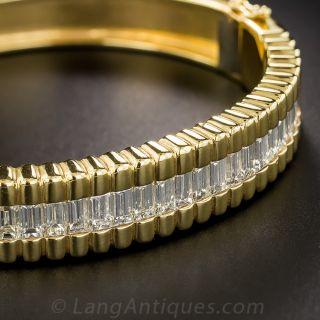 Baguette Diamond Bangle Bracelet