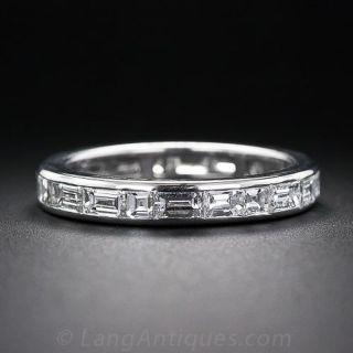 Baguette Diamond Eternity Wedding Band - Size 7