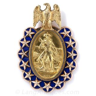 """Bailey, Banks & Biddle """"Sons of the (American) Revolution"""" Pendant - 1"""